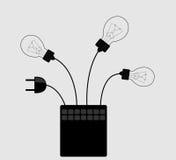 Casella con le lampade Immagine Stock Libera da Diritti