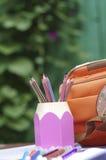 Casella con le matite Immagine Stock Libera da Diritti