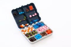 Casella con le pillole fotografia stock