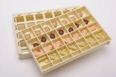 casella con le pillole mediche Fotografia Stock
