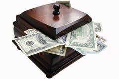 Casella con soldi Immagine Stock Libera da Diritti