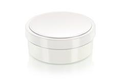 Casella crema in bianco su bianco fotografia stock