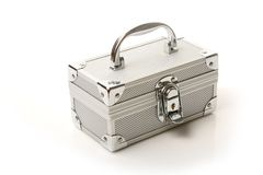 Casella d'argento fotografie stock