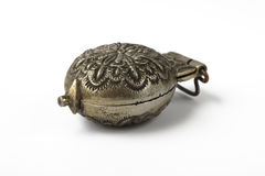 Casella d'argento antica delle pillole Fotografia Stock Libera da Diritti