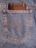 Casella dei jeans Fotografia Stock
