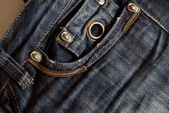 Casella dei jeans Immagini Stock