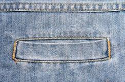 Casella dei jeans Fotografie Stock
