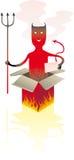 Casella del diavolo Fotografie Stock Libere da Diritti