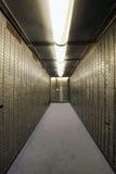 Casella del giacimento di cassaforte della volta della Banca Fotografia Stock
