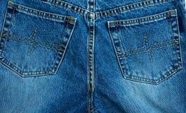 Casella del Jean Fotografia Stock Libera da Diritti