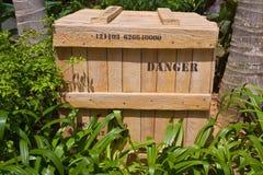 Casella del pericolo Fotografia Stock