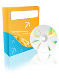 Casella del software con il cdrom Immagini Stock Libere da Diritti