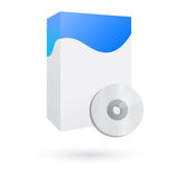 Casella del software con lo spazio in bianco cd Immagine Stock