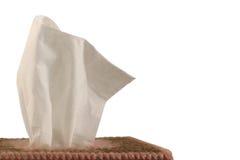 Casella del tessuto - priorità bassa bianca Fotografia Stock