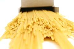 Casella del upclose della pasta Fotografia Stock