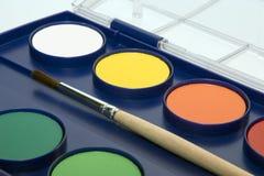 Casella del Water-colour fotografia stock libera da diritti