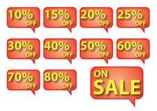 Casella della bolla di vendita Immagine Stock
