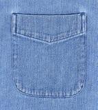 Casella della camicia del denim Fotografia Stock Libera da Diritti