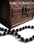 Casella della cassa con le perle Fotografia Stock