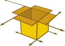 casella della freccia Fotografia Stock Libera da Diritti