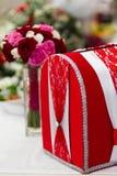Casella della partecipazione di nozze Fotografia Stock