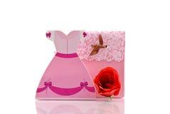 Casella della principessa regalo di divertimento immagini stock