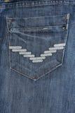 Casella delle blue jeans Fotografia Stock