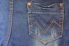 Casella delle blue jeans Fotografie Stock