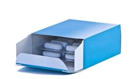 Casella delle pillole Fotografia Stock Libera da Diritti