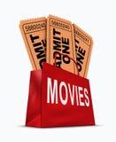 Casella di affari di film Immagini Stock