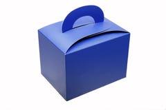 Casella di carta blu Fotografia Stock Libera da Diritti