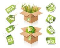 Casella di carta - idea di eco Fotografia Stock
