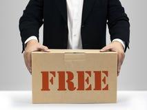 Casella di carta marrone libera Immagini Stock