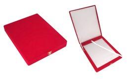 Casella di colore rosso del regalo Fotografia Stock Libera da Diritti