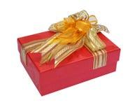 Casella di colore rosso del regalo Immagine Stock