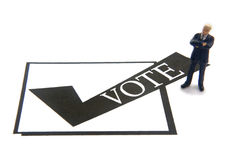 Casella di controllo di voto Fotografia Stock Libera da Diritti