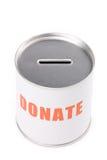 Casella di donazione fotografia stock