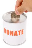 Casella di donazione e del dollaro Immagini Stock Libere da Diritti