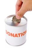 Casella di donazione e del dollaro Fotografie Stock Libere da Diritti