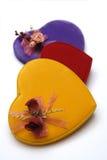Casella di figura del cuore Fotografie Stock