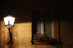 Casella di finestra di Gaslit Immagini Stock