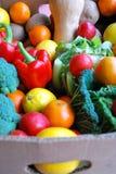 Casella di frutta e di veg Fotografia Stock Libera da Diritti