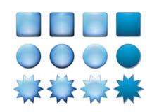 Casella di icona blu Fotografie Stock