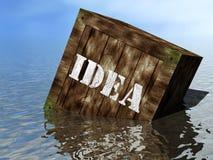 Casella di idea sulla spiaggia Fotografia Stock Libera da Diritti