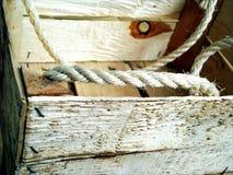 Casella di legno Immagini Stock