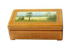 Casella di legno antica Fotografie Stock