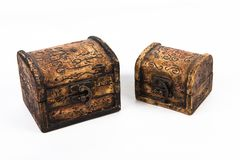 Casella di legno antica fotografia stock libera da diritti
