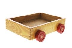 Casella di legno con le rotelle Fotografia Stock Libera da Diritti