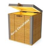Casella di legno d'ardore Immagine Stock