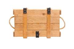 Casella di legno di vista superiore immagine stock